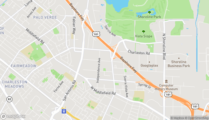 Mapa de 1040 N Rengstorff Ave en Mountain View