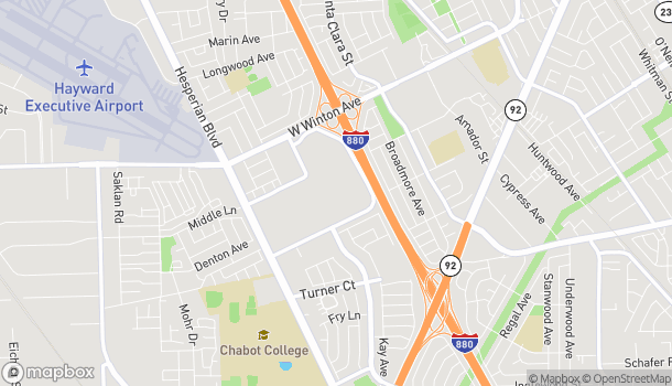 Map of 304 Southland Mall in Hayward