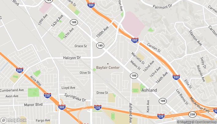 Map of 15555 E 14th Street in San Leandro