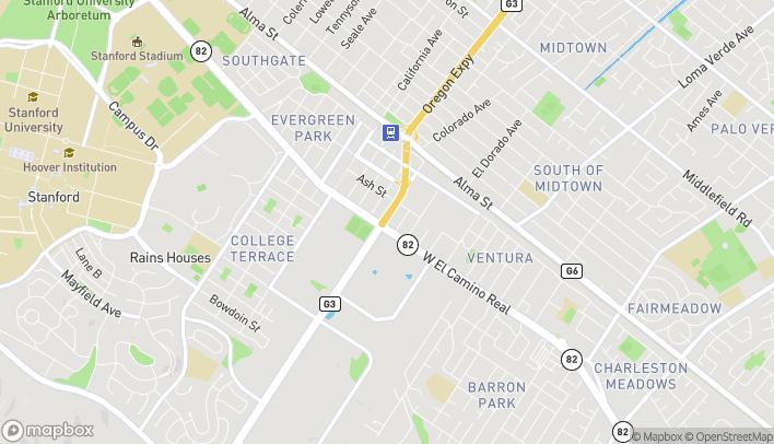 Mapa de 2805 El Camino Real en Palo Alto