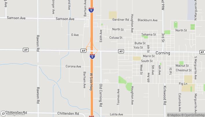 Mapa de 965 Hwy 99 W en Corning