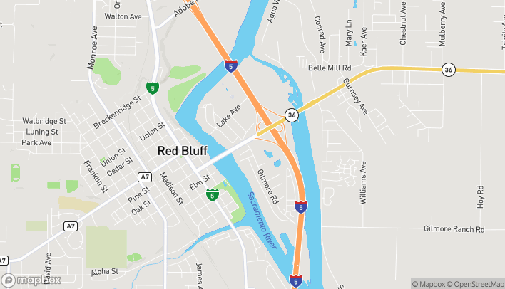 Map of 10 Gilmore in Red Bluff