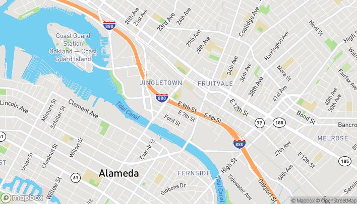 Mapa de 2992 E 9th St en Oakland