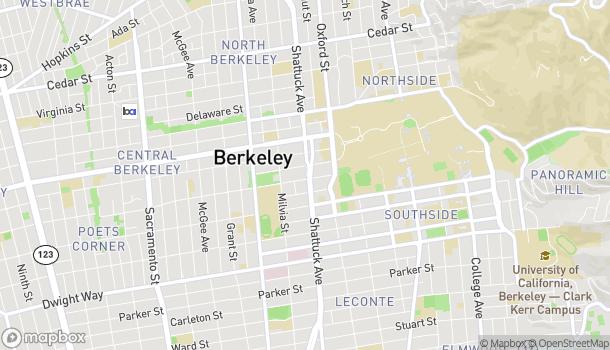 Mapa de 2180 Shattuck Ave en Berkeley