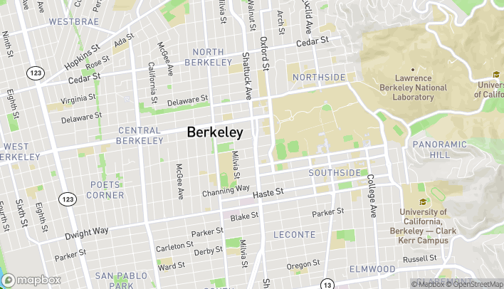 Map of 2180 Shattuck Ave in Berkeley