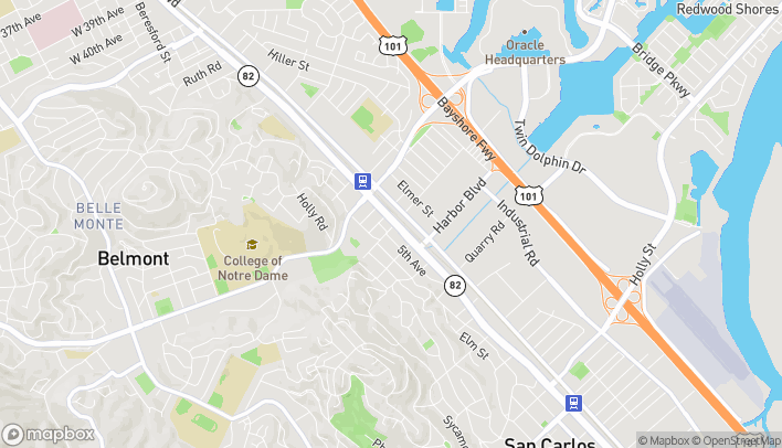 Map of 1250 S El Camino Real in Belmont