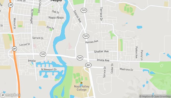 Mapa de 253 Soscol Ave en Napa