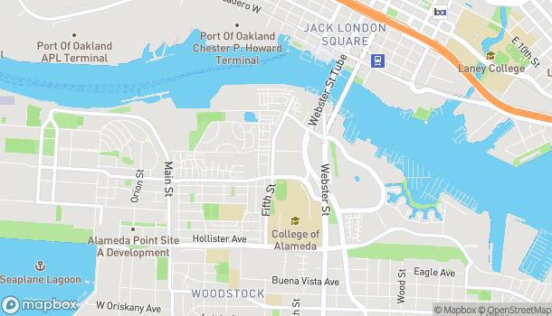 Mapa de 2620 5th St en Alameda