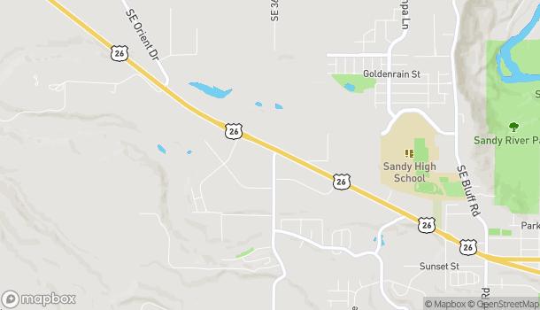 Mapa de 16605 SE 362nd Drive en Sandy
