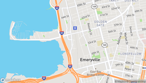Map of 5691 Bay St in Emeryville
