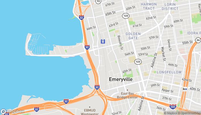 Mapa de 5691 Bay St en Emeryville