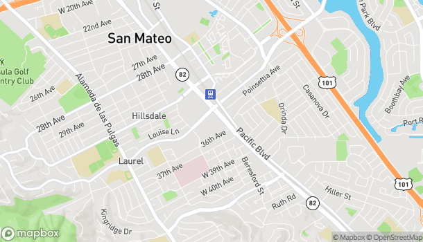 Map of 31 West Hillsdale Boulevard in San Mateo