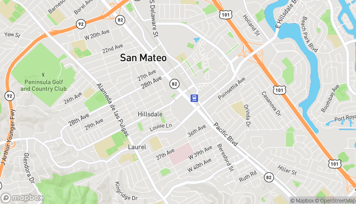 Map of Sixty 31st Avenue in San Mateo