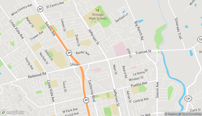 Map of 1342 Trancas St in Napa