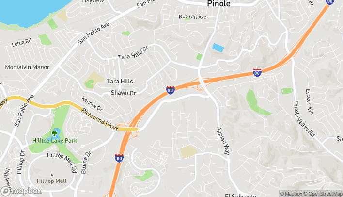 Map of 1471 Fitzgerald Drive in Pinole