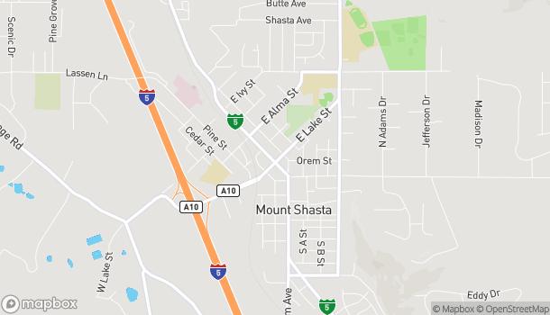 Mapa de 304 N Mount Shasta Blvd en Mount Shasta