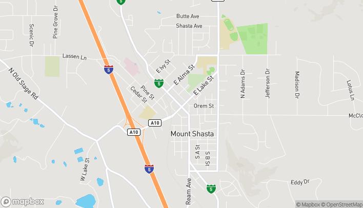 Map of 304 N Mount Shasta Blvd in Mount Shasta