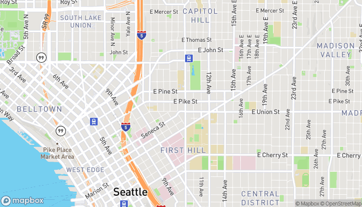 Map of 819 East Pike St in Seattle