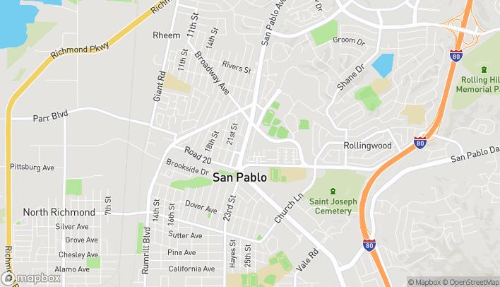 Mapa de 14330 San Pablo Avenue en San Pablo