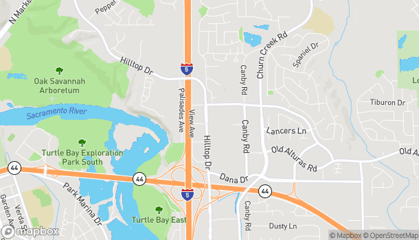 Mapa de 835 Browning Street en Redding