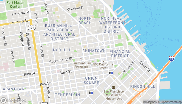 Map of 851 Clay St in San Francisco