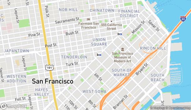 Mapa de 1 Powell Street en San Francisco