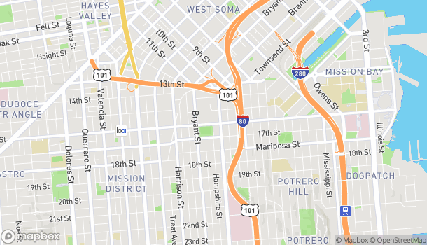 Map of 2300 16th St in San Francisco