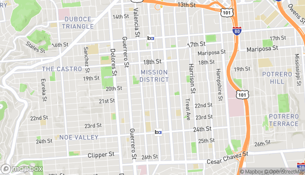Map of 2410 Mission St in San Francisco