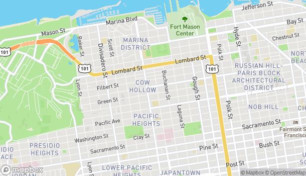Mapa de 2135 Union St en San Francisco