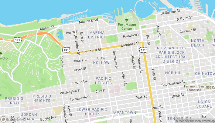 Map of 2135 Union St in San Francisco