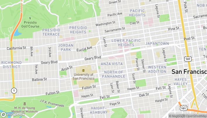 Mapa de 2675 Geary Boulevard en San Francisco