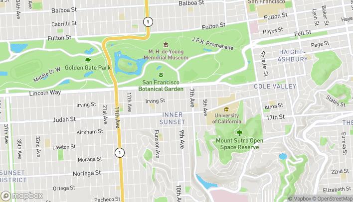 Mapa de 827 Irving Street en San Francisco