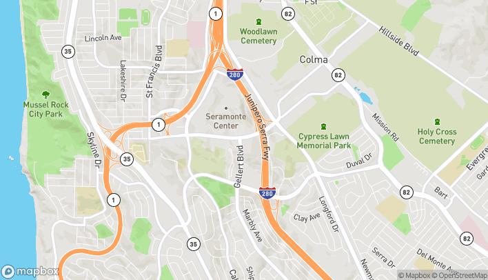 Mapa de 305 Gellert Blvd en Daly City