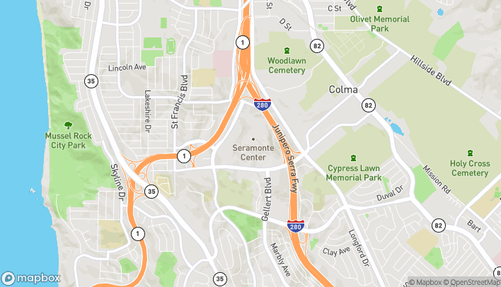Map of 3 Serramonte Ctr in Daly City