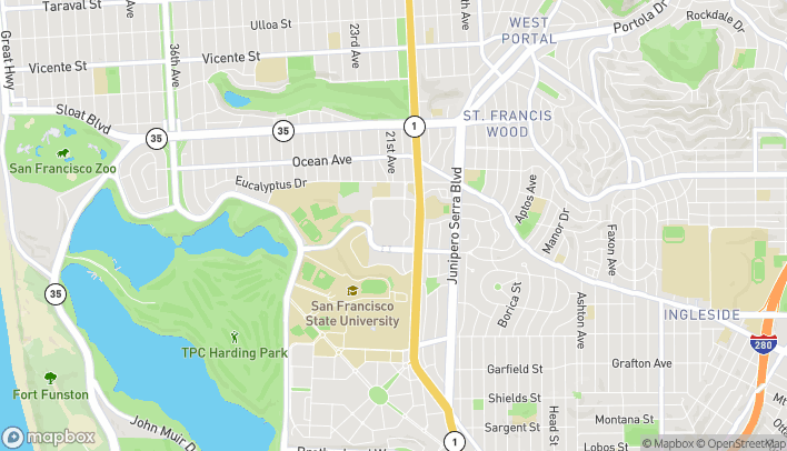 Map of 3251 20th Ave in San Francisco