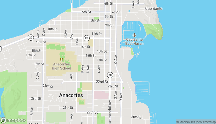 Map of 1704 Commercial Avenue in Anacortes