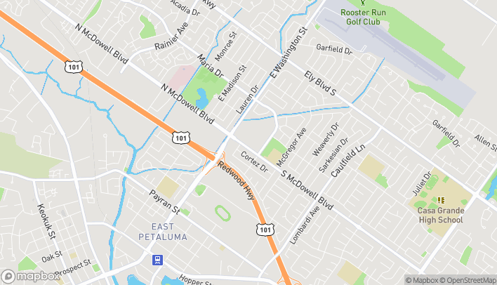 Map of 301 S McDowell Boulevard in Petaluma