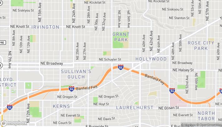 Map of 3290 NE Broadway Street in Portland