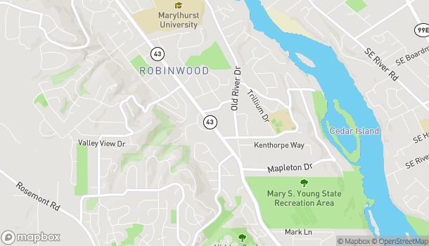 Mapa de 19062 Williamette Drive en West Linn