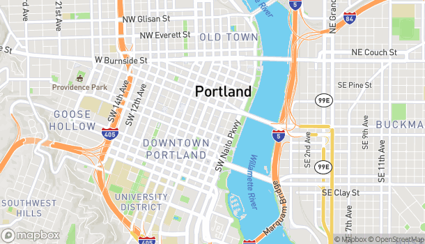 Map of 734 SW 3rd Ave in Portland