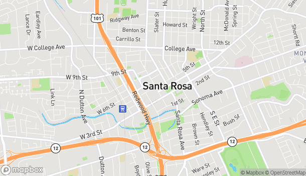 Map of 1071 Santa Rosa Plaza in Santa Rosa