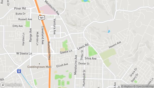 Map of 2280 Mendocino Ave in Santa Rosa