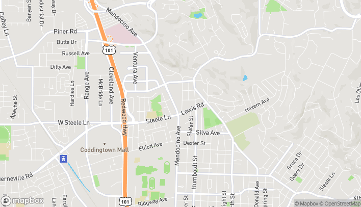 Mapa de 2280 Mendocino Ave en Santa Rosa