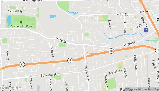 Map of 469 Stony Point Road in Santa-Rosa