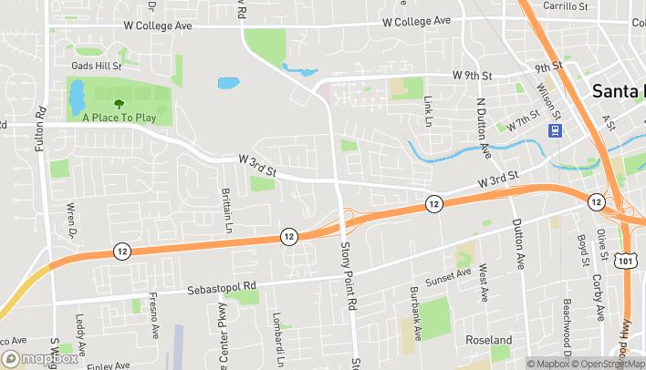 Mapa de 469 Stony Point Road en Santa-Rosa