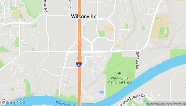 Mapa de 8599 Southwest Main Street en Wilsonville