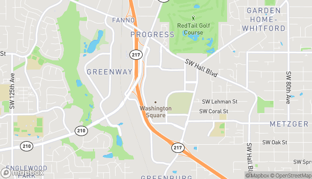 Map of 9534 SW Washington Square Rd in Tigard