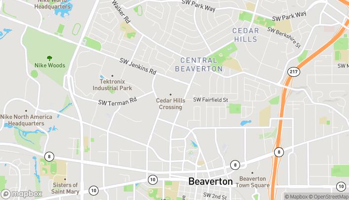 Map of 3155 SW Cedar Hills Blvd in Beaverton