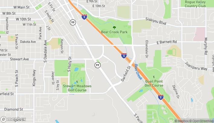 Map of 1314 Center Drive in Medford
