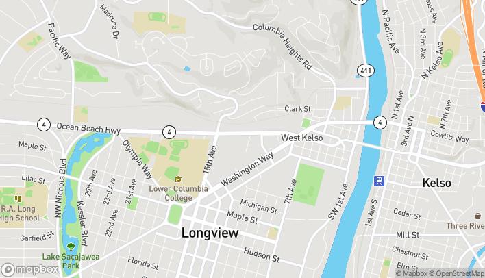 Map of 1015 Ocean Beach Hwy in Longview